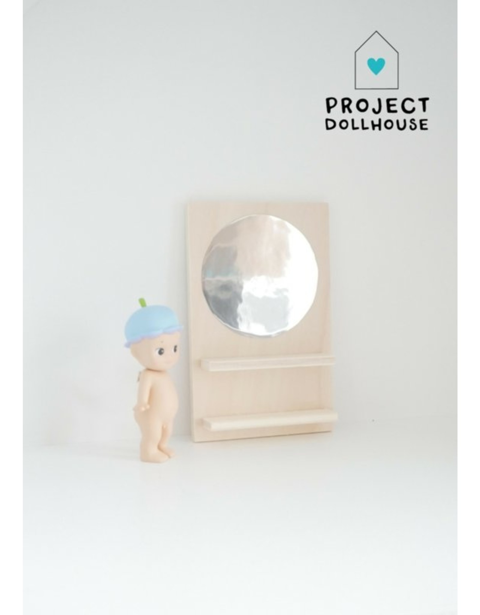 Project Dollhouse Wooden Mirror Wall Circle