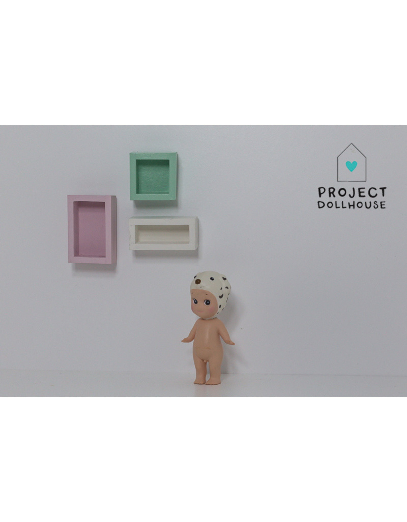 Project Dollhouse Set van 3 Wandkastjes