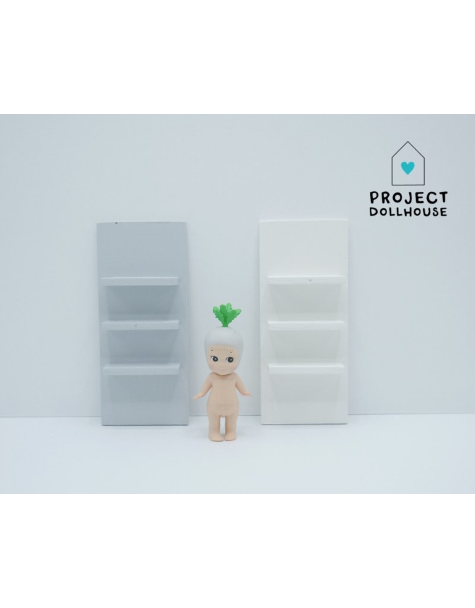 Project Dollhouse  Wooden Wall Unit Small
