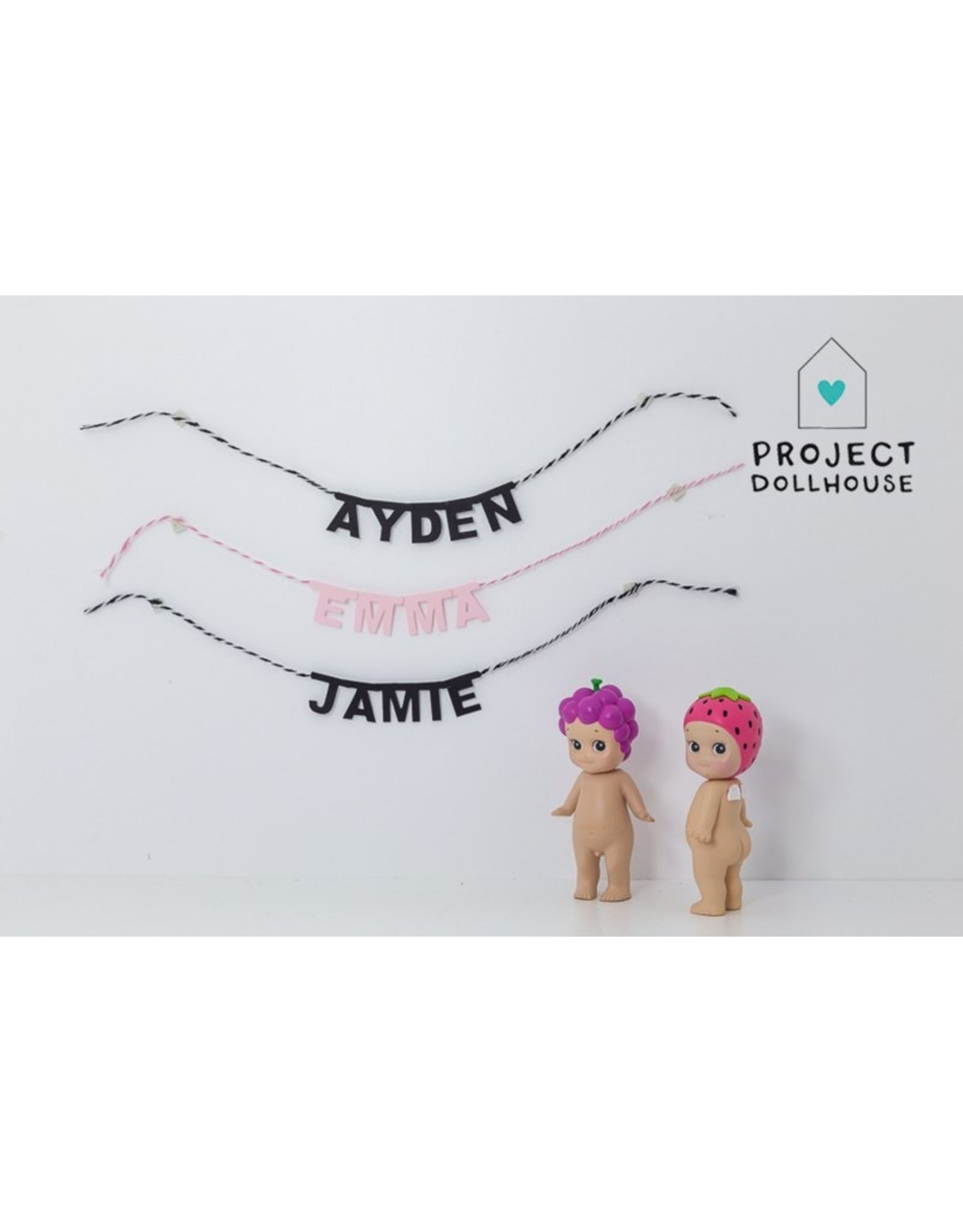 Project Dollhouse Personal Name Garland