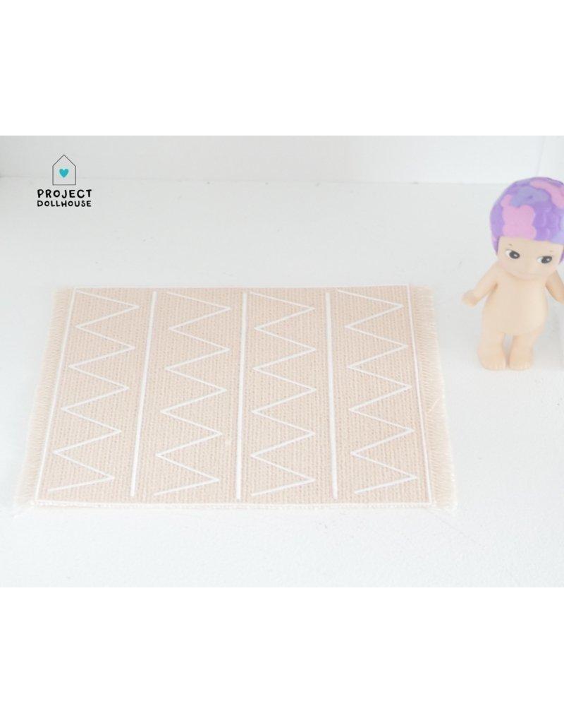 "Project Dollhouse Vloerkleed ""Print"" zalm kleur"