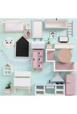 Project Dollhouse Meubelpakket Oud Roze / Grijs