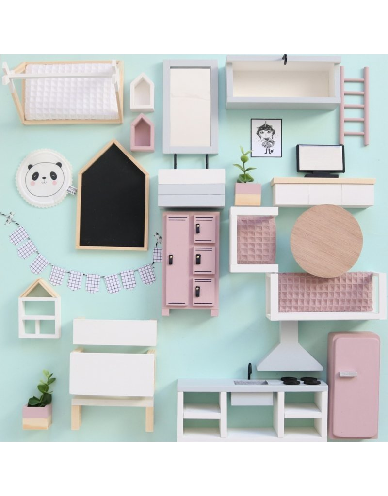 Project Dollhouse  Furniture package old pink / grey