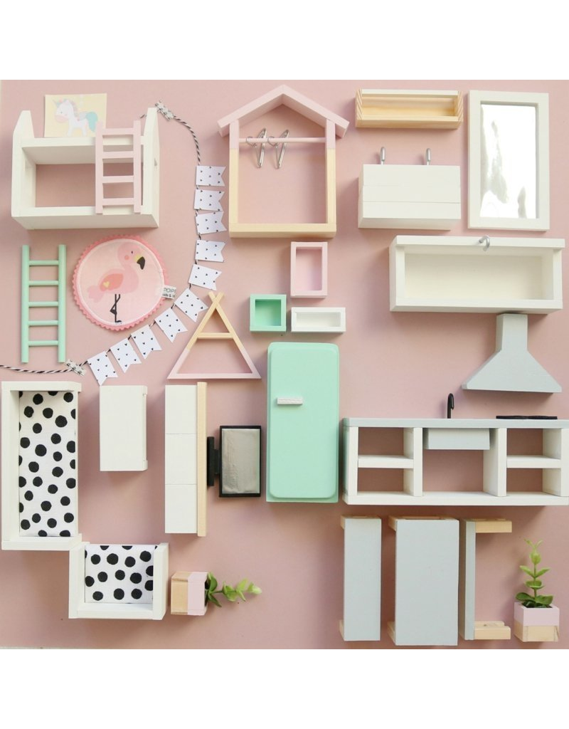 Project Dollhouse  Furniture package Pastel