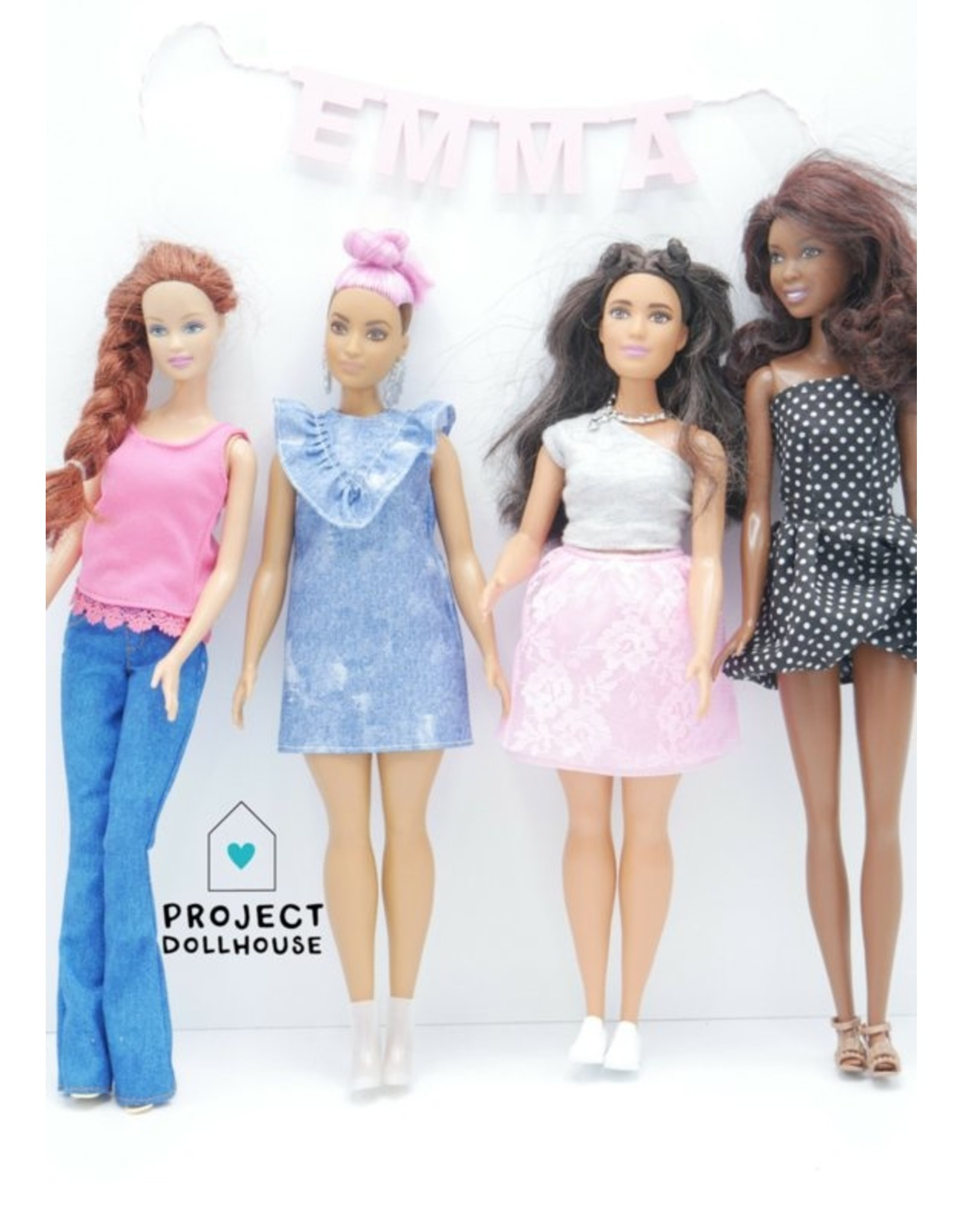 Project Dollhouse  Name garland Barbie scale