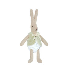 Maileg Rabbit with Green Cardigan - Micro 16 cm