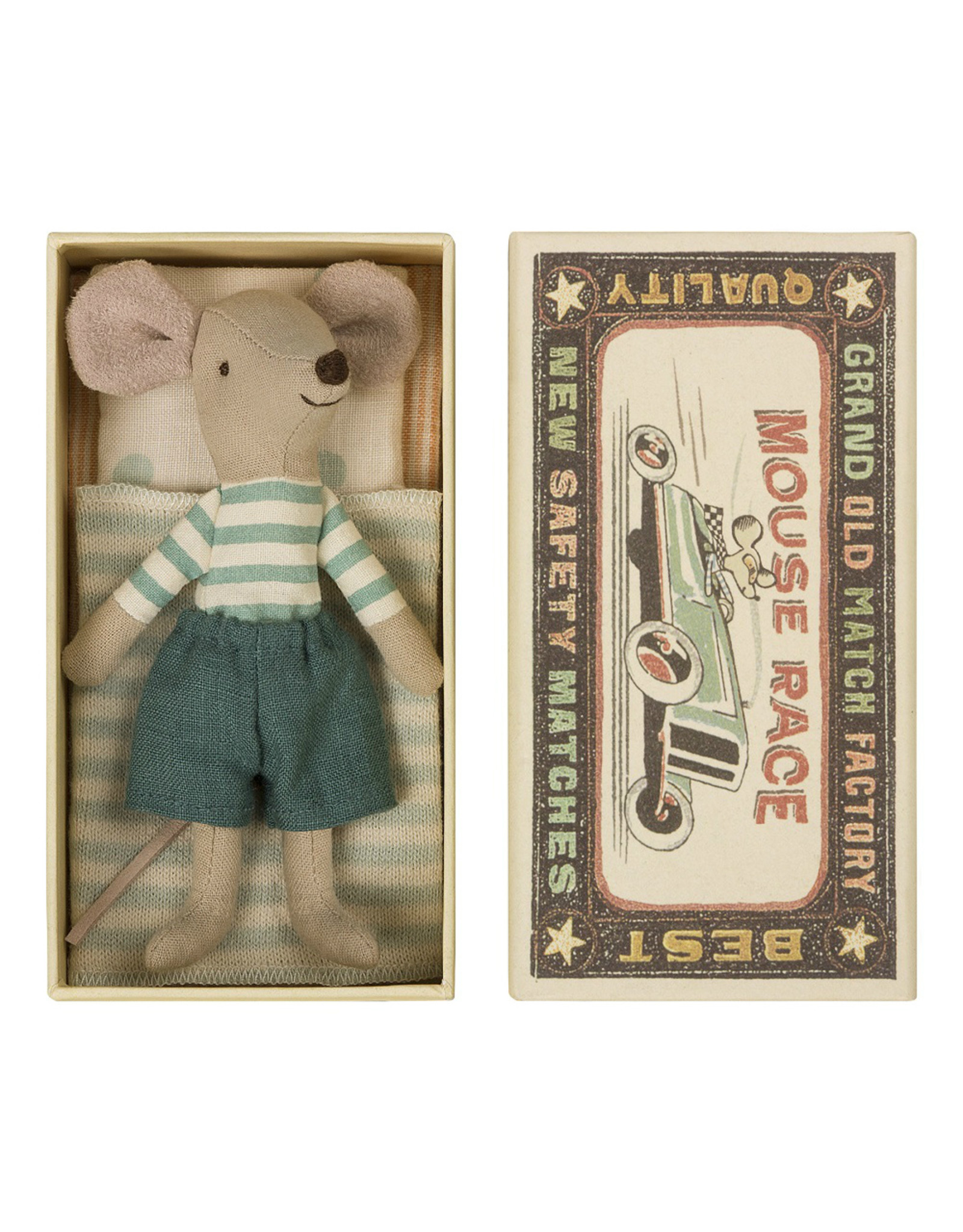 Maileg Big Brother Mouse 1 in Matchbox - 12 cm
