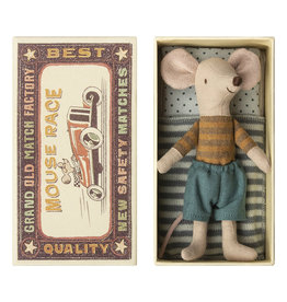 Maileg Big Brother Mouse 2 in Matchbox - 12 cm