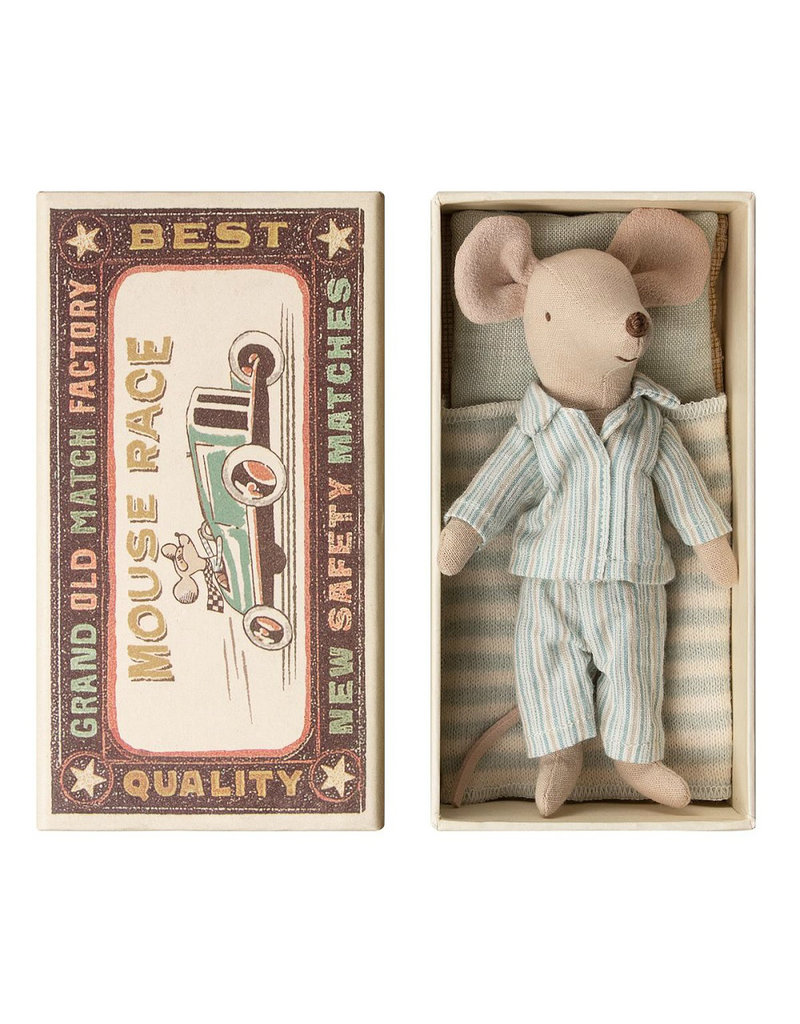 Maileg Big Brother Mouse 3 in Matchbox - 12 cm