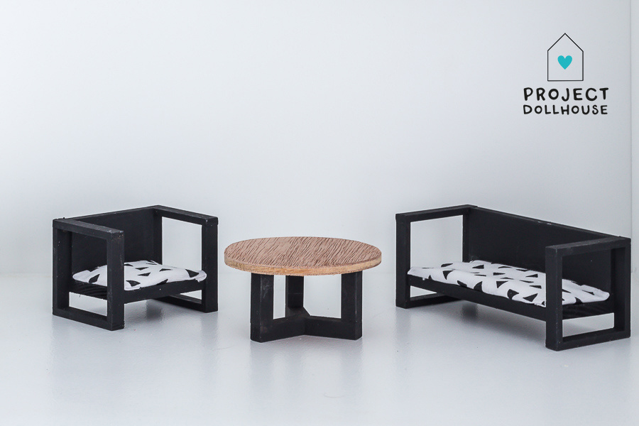 Bench and Chair with Coffee Table-1