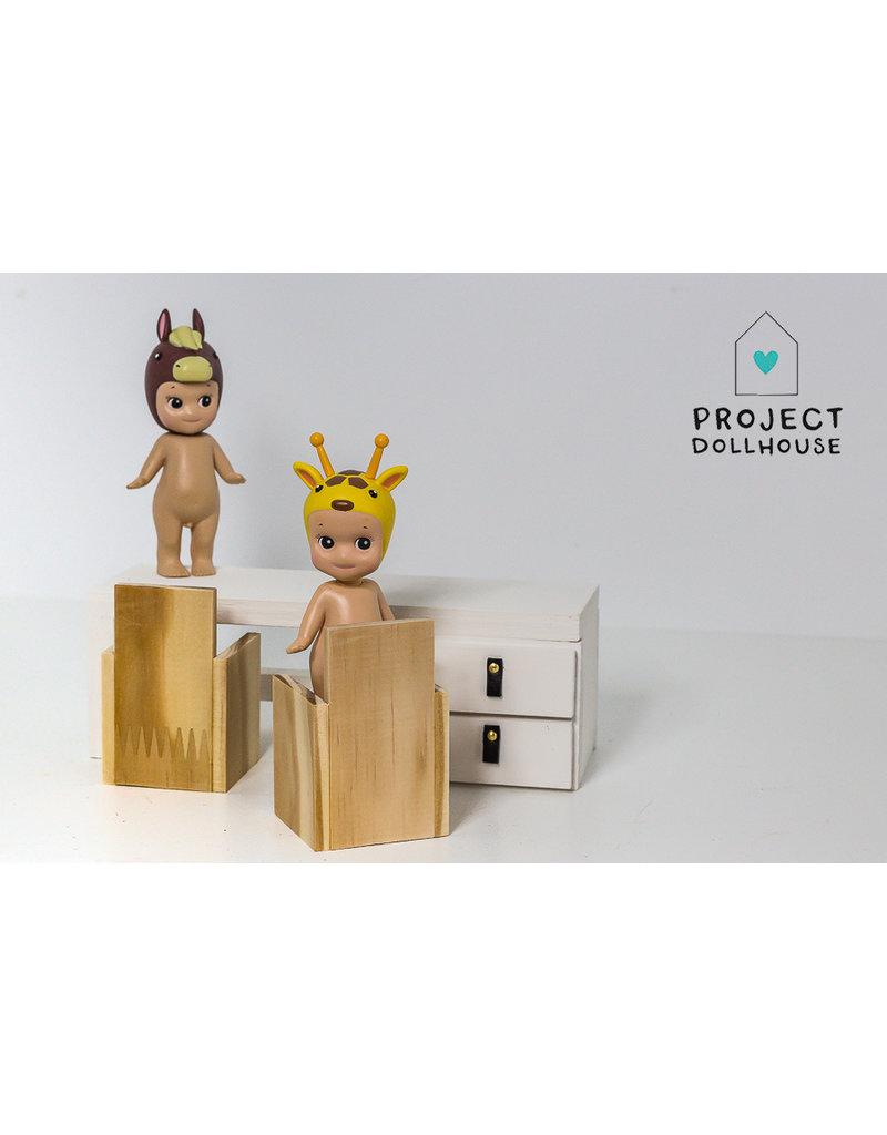 Project Dollhouse  Bureau met Twee Stoelen