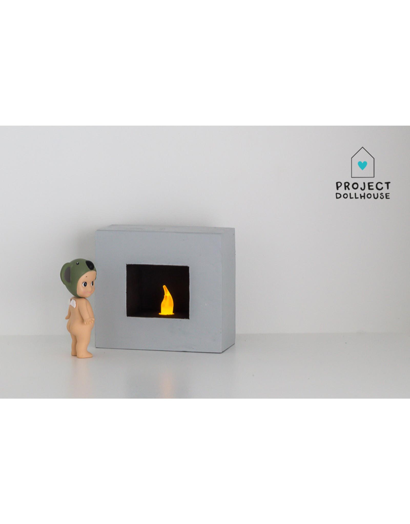 Project Dollhouse Fireplace