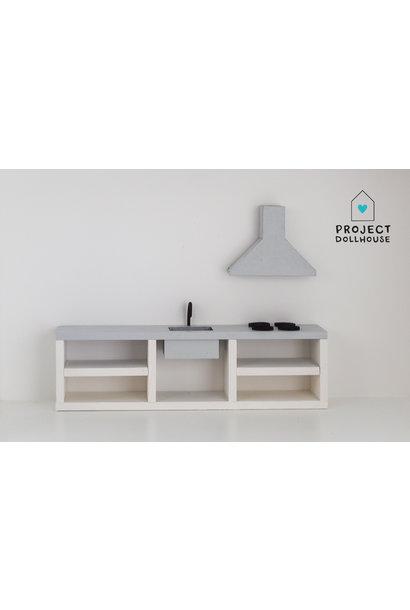 Modern kitchen grey 25 cm