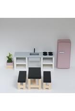 Project Dollhouse Modern kitchen grey 25 cm