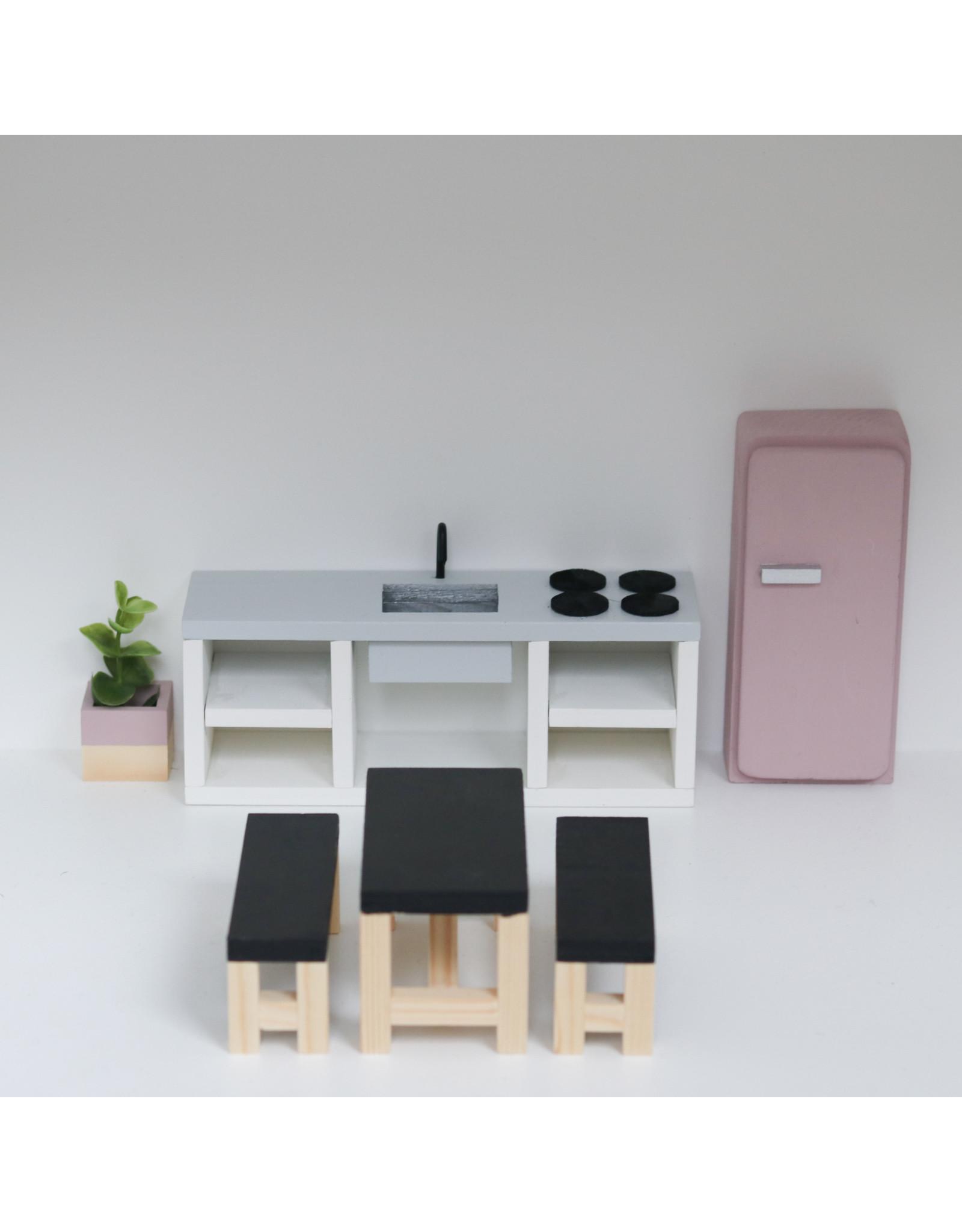 Project Dollhouse Keuken Betonlook 25 cm