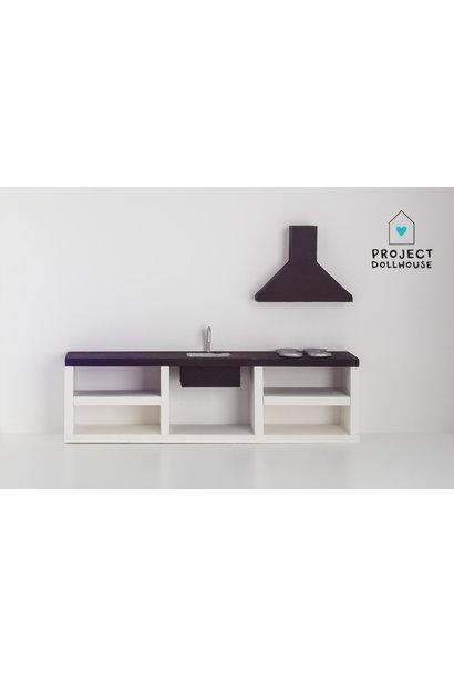 Modern kitchen black 25 cm