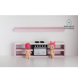 Project Dollhouse Modern kitchen black 25 cm  - Copy