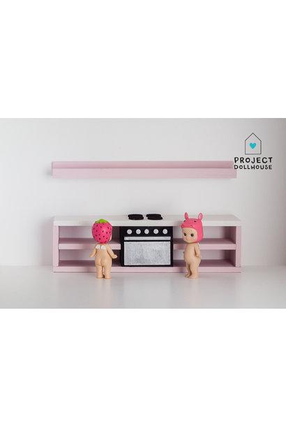 Modern kitchen black 25 cm  - Copy