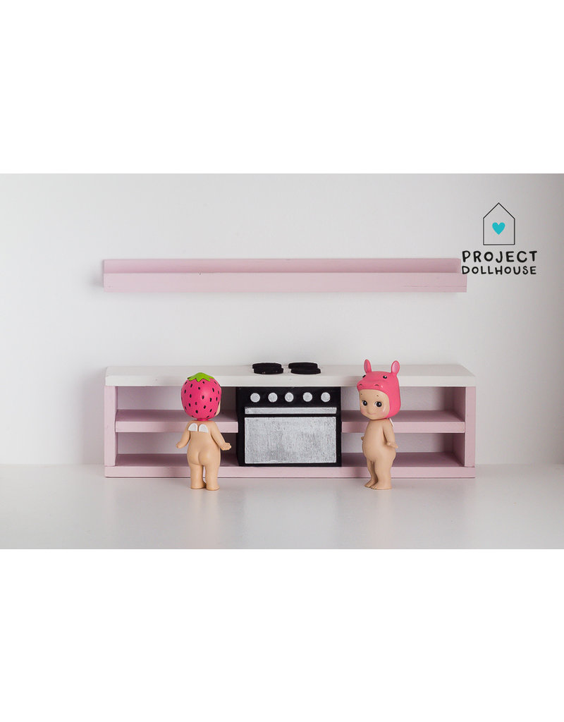Project Dollhouse Modern kitchen pink 25 cm with oven