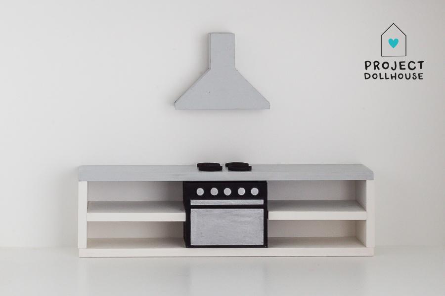 Keuken Betonlook met oven 25 cm-1
