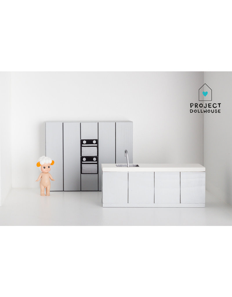 Project Dollhouse Complete kitchen grey