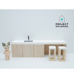 Project Dollhouse Kitchen island 25 cm