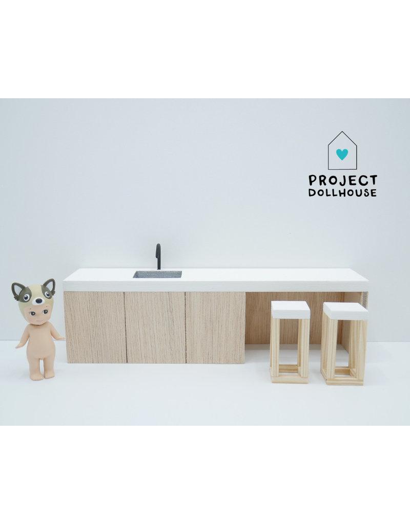Project Dollhouse Kitchen island 25 cm