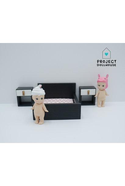 "Black bedside tables ""Cube"""