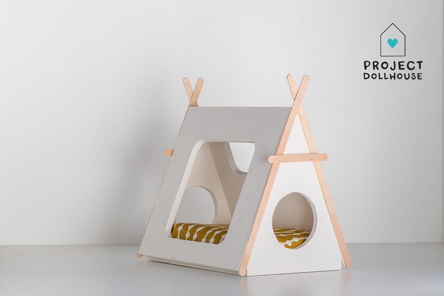 Tipi bed Closed model wooden details-2