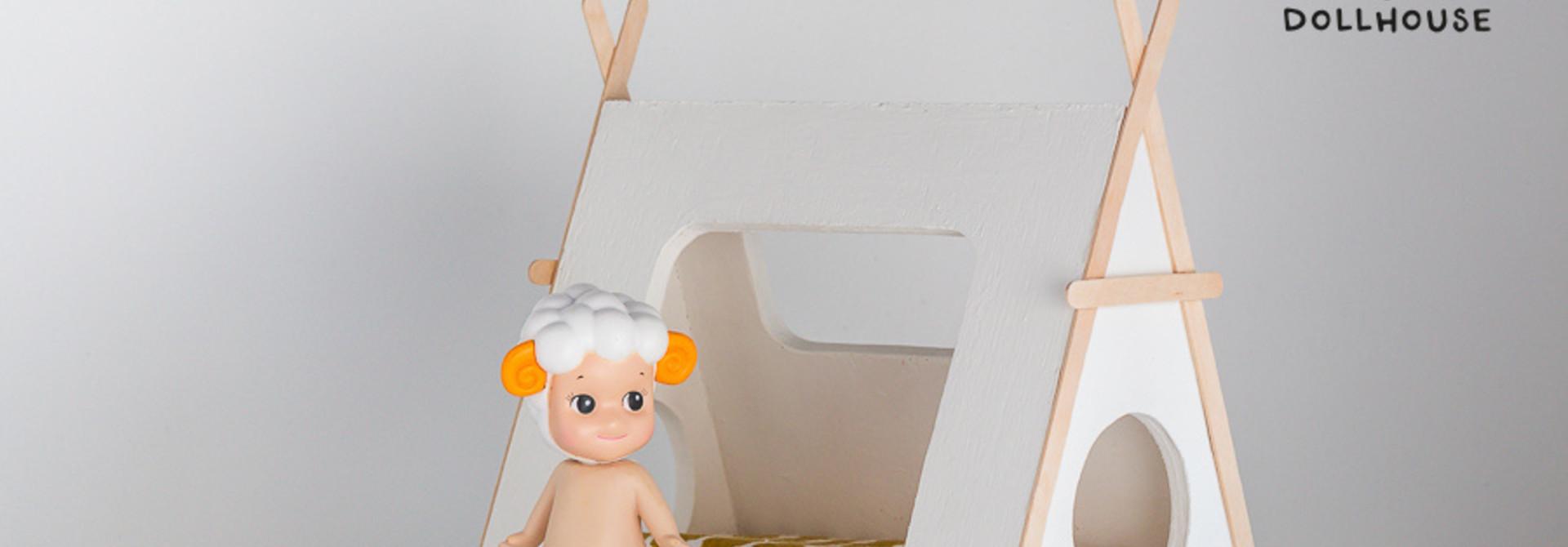 Tipi bed Closed model wooden details