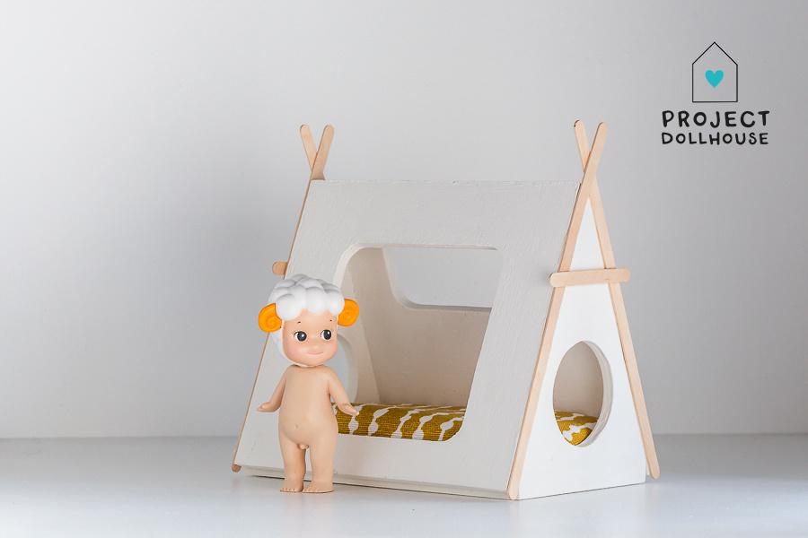 Tipi bed Closed model wooden details-1