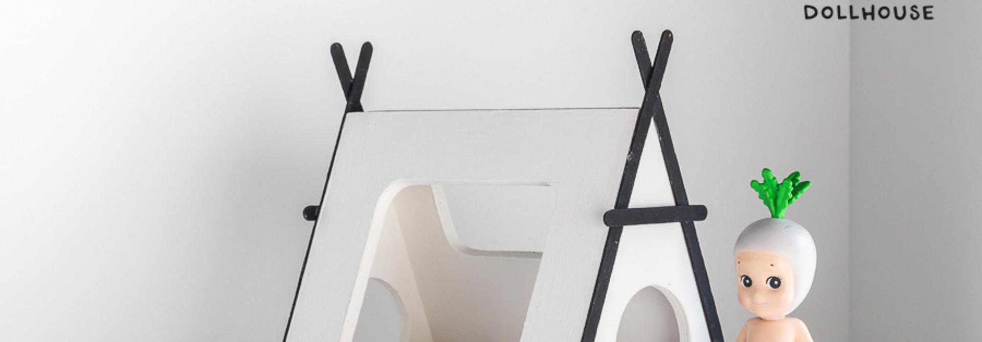 Tipi bed Closed model black details