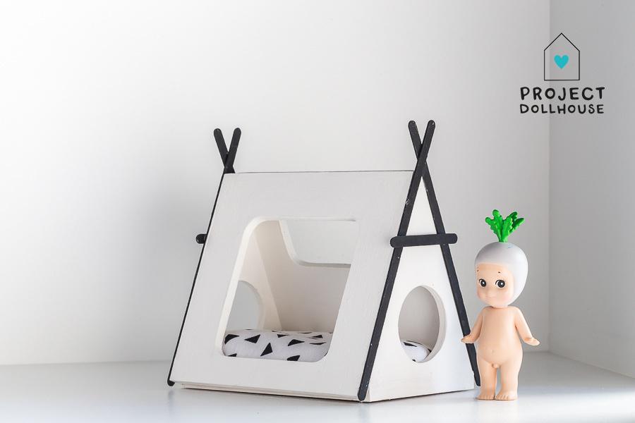 Tipi bed Closed model black details-1