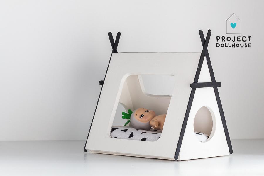 Tipi bed Closed model black details-2