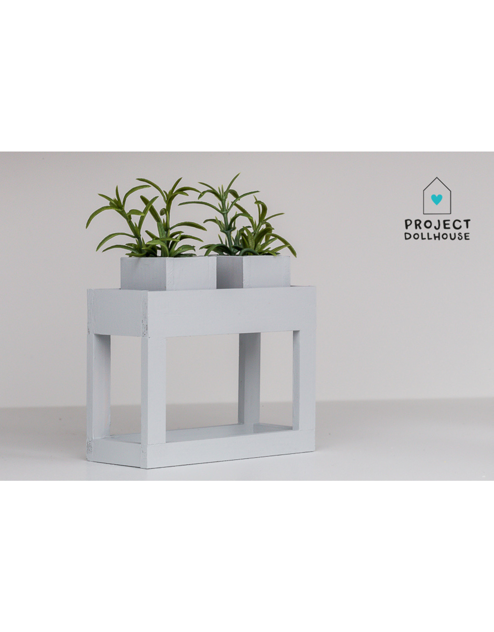 Project Dollhouse Modern planter table Grey