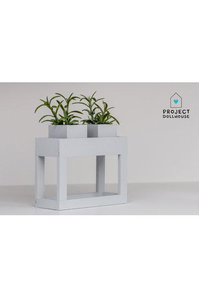 Modern planter table Grey