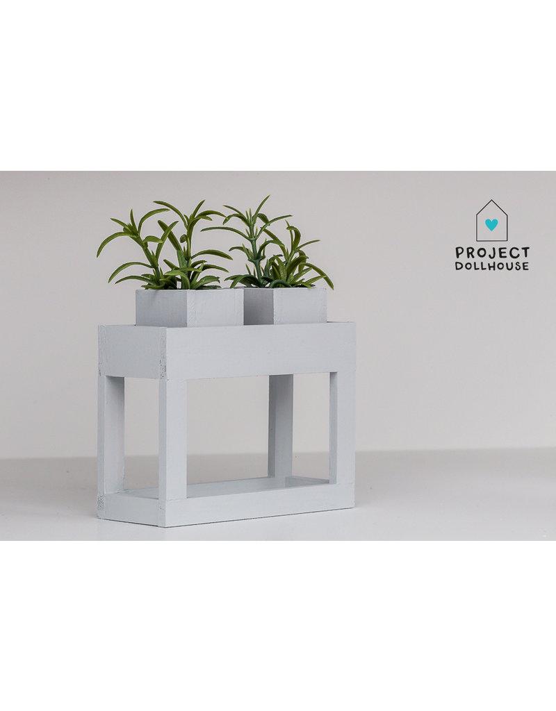 Project Dollhouse Moderne plantentafel Lichtgrijs