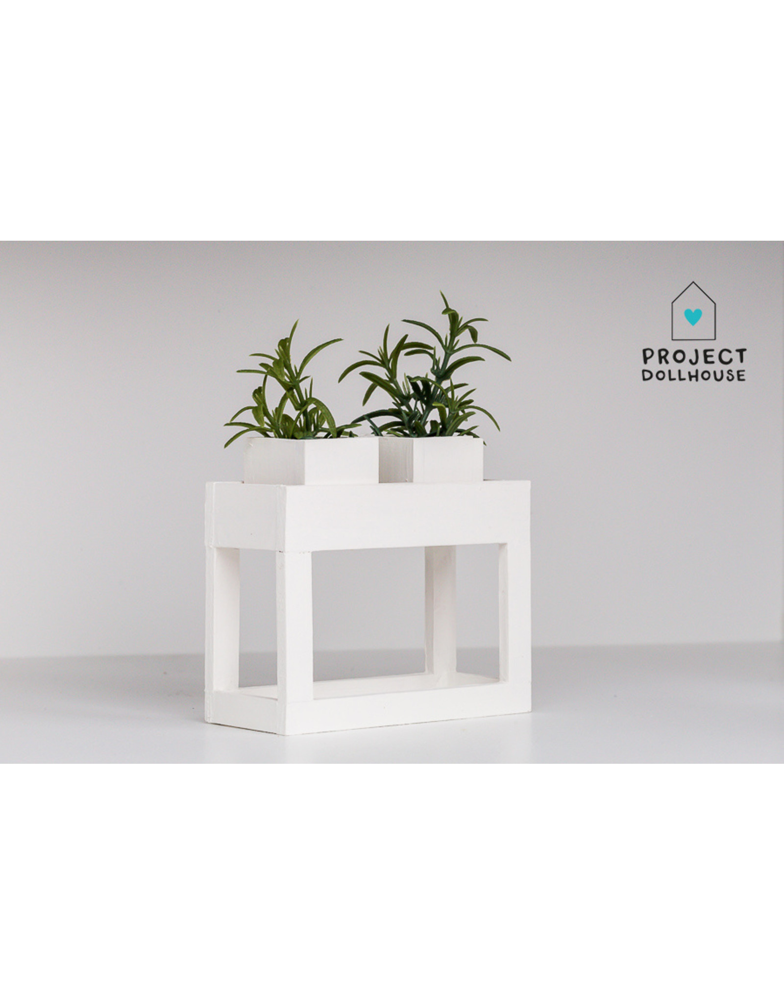 Project Dollhouse Moderne plantentafel Wit