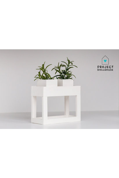 Modern planter table White