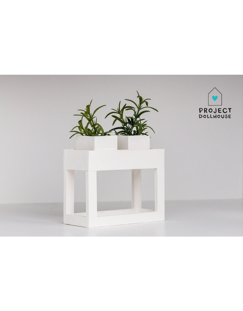 Project Dollhouse Modern planter table White