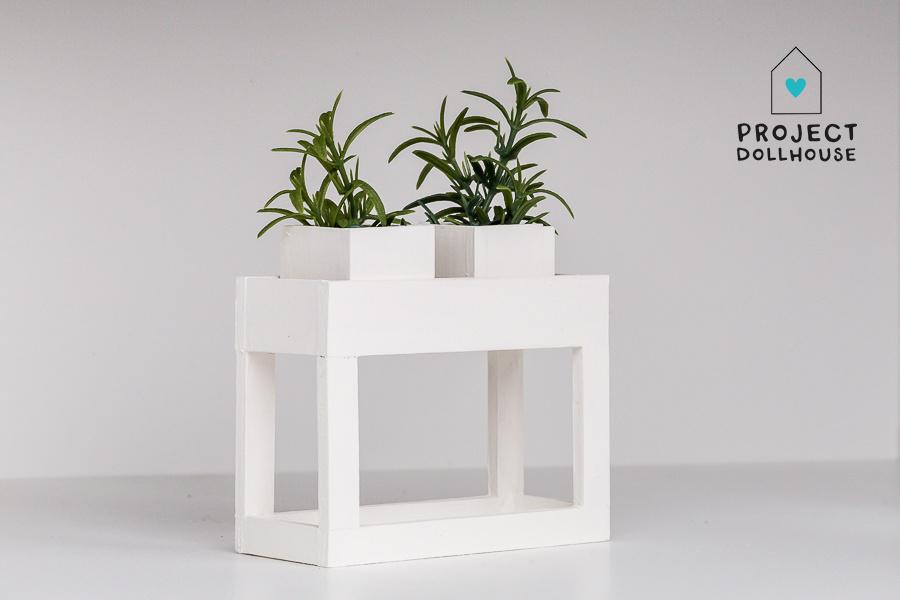 Modern planter table White-1