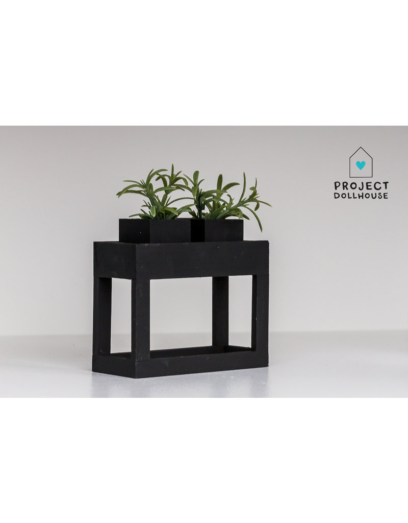 Project Dollhouse Modern planter table Black
