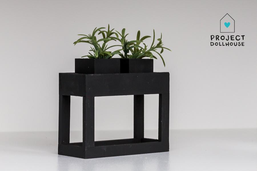 Moderne plantentafel Zwart-2