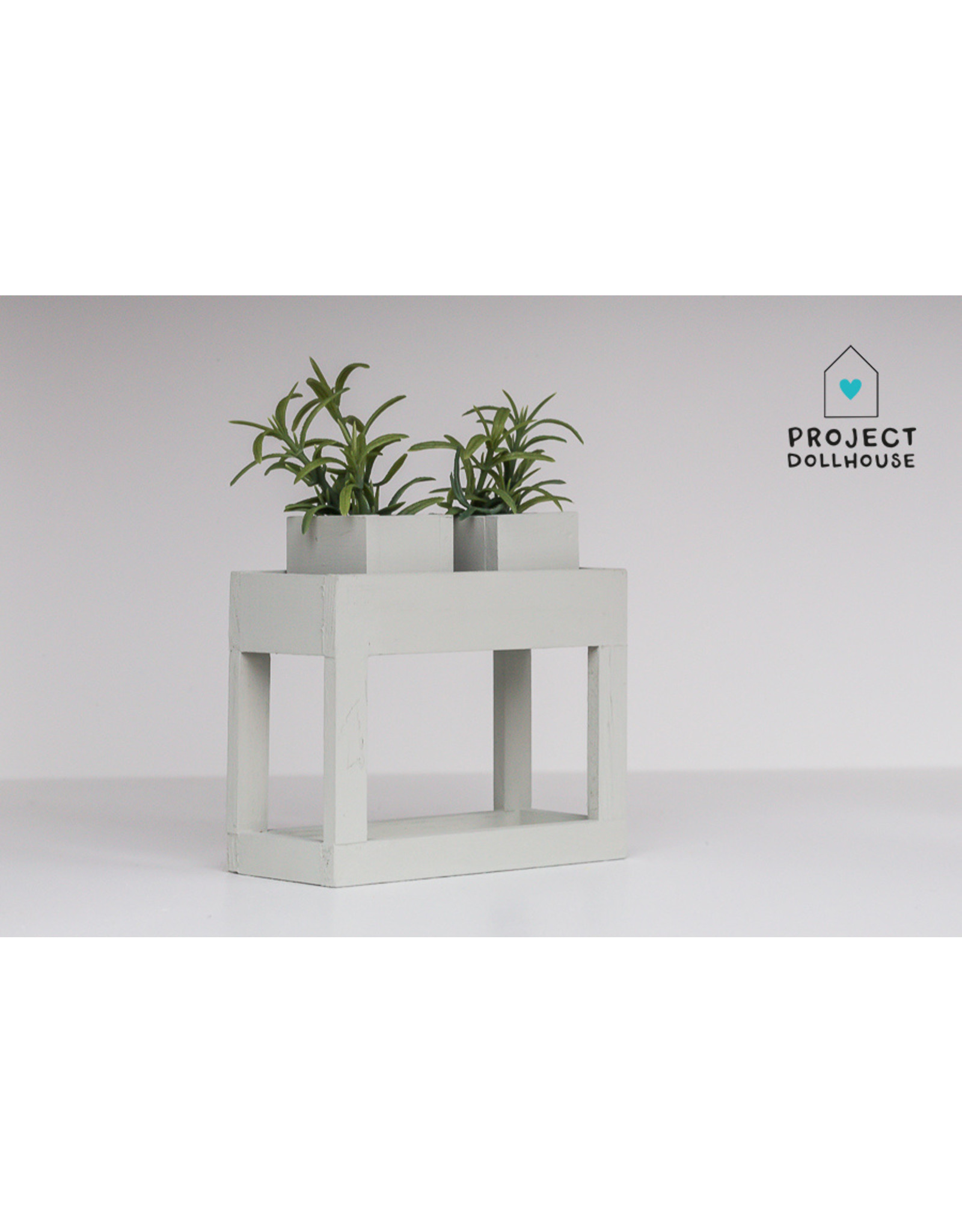Project Dollhouse Modern planter table early dew