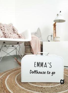 Dollhouse suitcase White-1