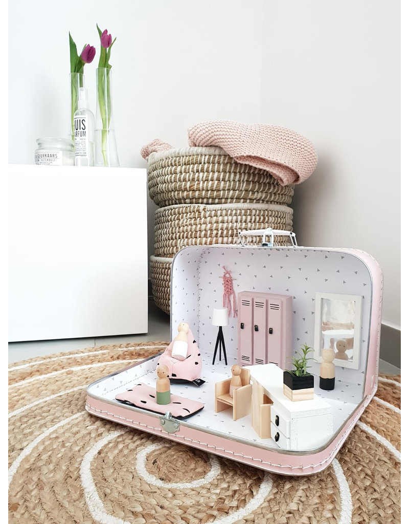 Project Dollhouse Dollhouse Suitcase Pastel Pink