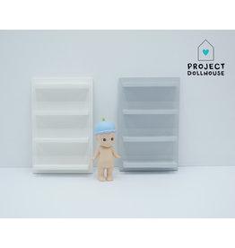 Project Dollhouse Wandmeubel 4 planken