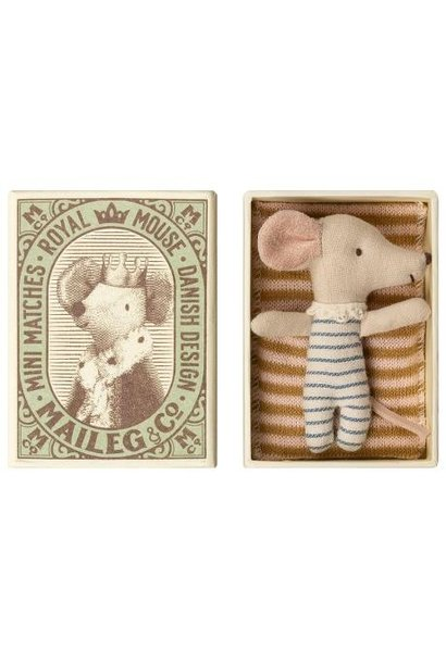 Baby Mouse Boy in Matchbox - 8 cm