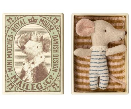 Baby Mouse Boy in Matchbox - 8 cm-1