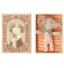 Maileg Baby Mouse Girl in Matchbox - 8 cm